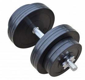 Гантель наборная обрезиненная RN Sport, 31 кг (RN_OD31)