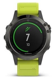 Часы спортивные Garmin fenix 5S Sapphire, желтые (010-01688-02)