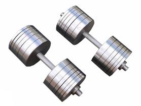 Гантели наборные RN Sport, 2 шт по 43 кг (StD-43)