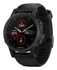 Смарт-часы Garmin Fenix 5S Plus Sapphire, черные (010-01987-03)