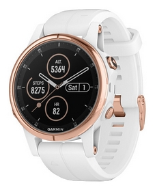 Смарт-часы Garmin Fenix 5S Plus Sapphire, белые (010-01987-07)