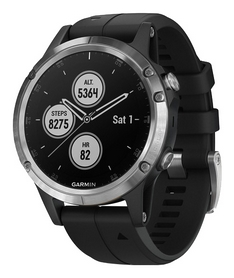 Смарт-часы Garmin Fenix 5 Plus, серо-черные (010-01988-11)
