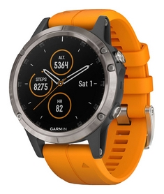 Смарт-часы Garmin Fenix 5 Plus, серо-оранжевые (010-01988-05)