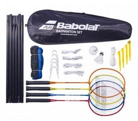 Набор для бадминтона (4 ракетки, 2 волана, сетка) Babolat Badminton Leisure Kit X4 620101/100, №0 (3324921580982)