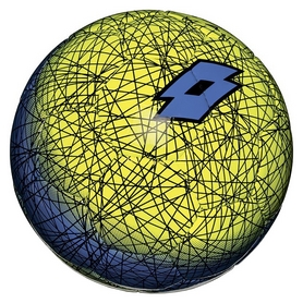Мяч футбольный Lotto Ball FB500 LZG 4 S4082 FW-17 - желто-синий, №4 (8059136202521)