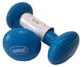 Гантели для фитнеса неопреновые LiveUpVinyl DumbbellEgg Head, 2 шт по 3 кг (LS2001-3)