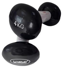 Гантели для фитнеса неопреновые LiveUpVinyl DumbbellEgg Head, 2 шт по 4 кг (LS2001-4)