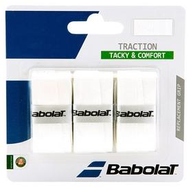 Намотка для теннисной ракетки Babolat Traction X3 653043/101 - белая, 3 шт (3324921393605)