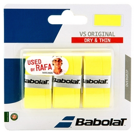 Намотка для теннисной ракетки Babolat VS Original X3 653040/113 - желтая, 3 шт (3324921393865)