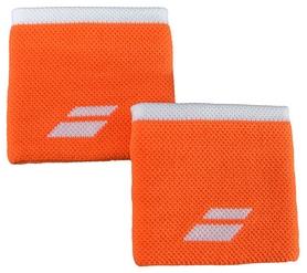 Повязка на кисть (напульсник) Babolat Logo Wristband 5US18261/6004, оранжево-белая (3324921604442)