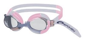 Очки для плавания детские Spokey Jellyfish 82278, оранжевые (MC82278)