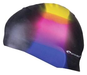 Шапочка для плавания Spokey Abstract Cup 85366, черная (MC85366)