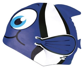 Шапочка для плавания детская Spokey Rybka 87470, синяя (MC87470)