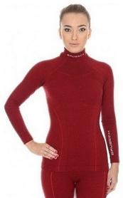 Термобелье женское (комплект) Brubeck Extreme Wool (LS11930-LE11130 burgundy)