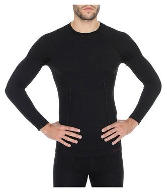 Комплект мужского термобелья Brubeck Active Wool, черный (LS12820-LE11710 black)
