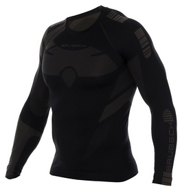 Комплект мужского термобелья Brubeck Dry, черно-серый (LS13080-LE11860 black/graphite) - Фото №3