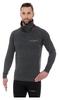 Кофта мужская спортивная Brubeck Fusion, темно-серая (LS13540-graphite) - фото 1