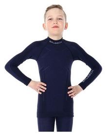 Комплект термобелья детский Brubeck Active Wool (LS13680-LE12120 navy blue)