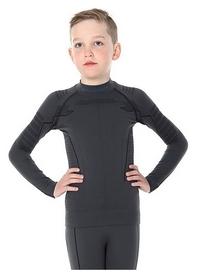 Футболка детская с длинным рукавом Brubeck Thermo, темно-серая (LS13640-graphite)