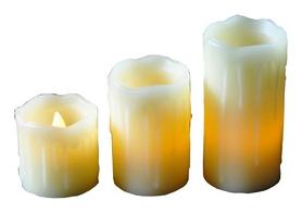 Комплект из 3-х свечей декоративных Mica Decorations, кремово-желтый (8712799937901)