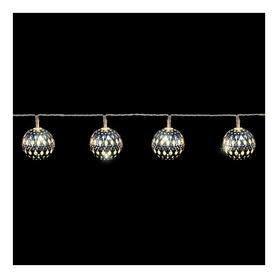 Гирлянда Luca Lighting «Серебристые шарики», 1,35 м (8712799938502)