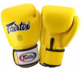 Перчатки боксерские Fairtex BGV1 - желтые (BGV1-yllw)