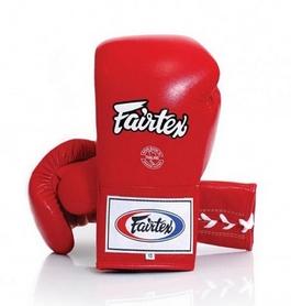 Перчатки боксерские со шнуровкой Fairtex - красные (BGL6-red)