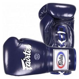 Перчатки боксерские со шнуровкой Fairtex - синие (BGL6-bl)