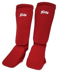 Щитки защитные для голени из ткани Fairtex SPE1, красные (SPE1-red)