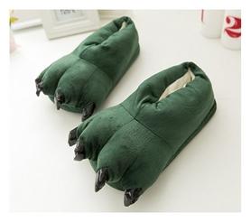 Тапочки домашние кигуруми CDRep Лапы, зеленые (FO-115593)