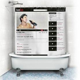 "Шторка для ванной CDRep ""YouTube"" (122822) - Фото №2"