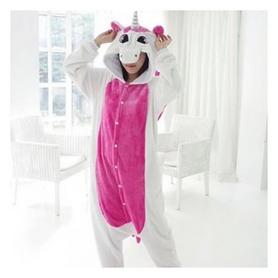 Пижама в звездочку Кигуруми CDRep Единорог, бело-розовая (FO-KGR-EDR5)