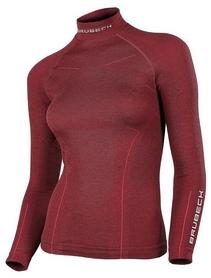 Термофутболка женская с длинным рукавом Brubeck Extreme Wool (LS11930-burgundy)