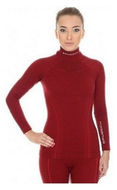 Комплект термобелья женский Brubeck Extreme Wool (LS11930-LE11130 burgundy)
