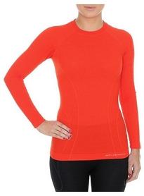 Термофутболка женская с длинным рукавом Brubeck Active Wool (LS12810-brick red)