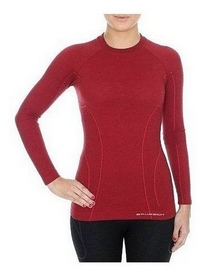 Комплект термобелья женский Brubeck Active Wool (LS12810-LE11700 brick red)