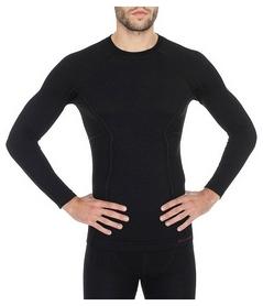 Термофутболка мужская с длинным рукавом Brubeck Active Wool (LS12820-black)