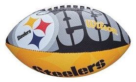 Мяч для американского футбола Wilson NFL JR Team Logo FB PT SS18 (WTF1534XBPT)