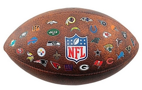 Мяч для американского футбола Wilson NFL Official 32 Team Logo SS18 (WTF1758XBNF32)