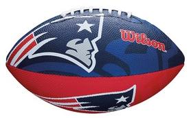 Мяч для американского футбола Wilson NFL JR Team Logo FB  NE SS18 (WTF1534XBNE)