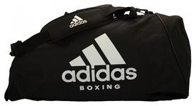 Сумка-рюкзак спортивная 2 в 1 Adidas - белая, М (ADIACC052B-W-M)