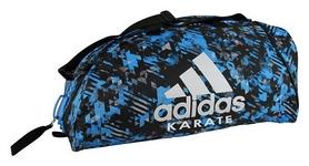Сумка-рюкзак спортивная 2 в 1 Adidas Karate - синяя, M (ADIACC058K-BL-M)