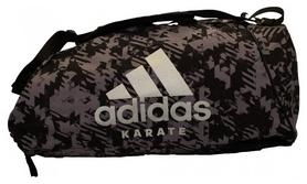 Сумка-рюкзак спортивная 2 в 1 Adidas Karate - серая, M (ADIACC058K-S-M)