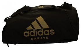Сумка-рюкзак спортивная 2 в 1 Adidas Karate, M (CC052K-BLK-M)