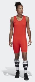 Трико тяжелоатлетическое Adidas PowerLiftSuit, красное (CW5647)