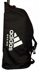 Сумка спортивная на колесах Adidas boxing - 120 л, белая (ADIACC057B-W-120)