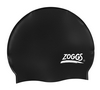 Шапочка для плавания Zoggs Silicone Cap Plain, черная (300604BLK)