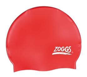 Шапочка для плавания Zoggs Silicone Cap Plain, красная (300604RED)