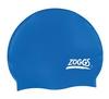 Шапочка для плавания Zoggs Silicone Cap Plain, синяя (300604NVY)