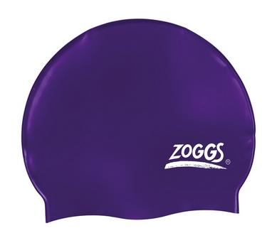 Шапочка для плавания Zoggs Silicone Cap Plain, фиолетовая (300604VLT)